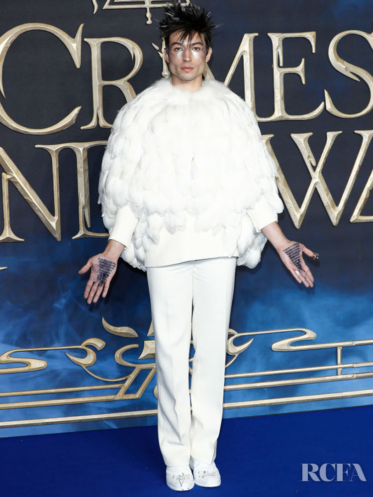 Ezra Miller In Givenchy Haute Couture – 'Fantastic Beasts: The Crimes Of Grindelwald' London Premiere