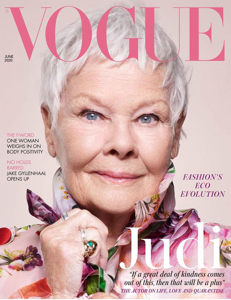 Dame Judi Dench For British Vogue June 2020