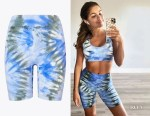 Hannah Sluss' Tory Burch Sport Tie-Dye Seamless Bike Shorts
