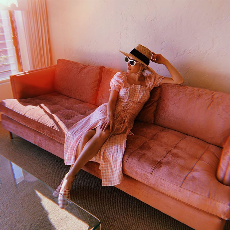 Emma Roberts Goes Gingham On Instagram