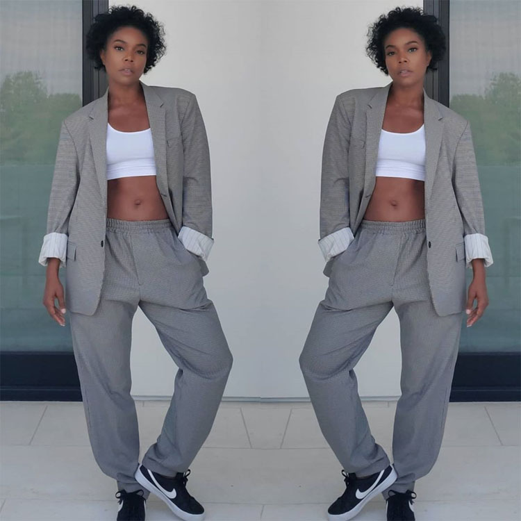 Gabrielle Union Shows Us The Chic Way To Style Your Husbands Clothes