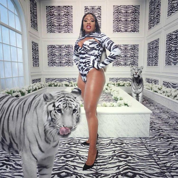 Megan Thee Stallion tiger Zigman bodysuit for WAP