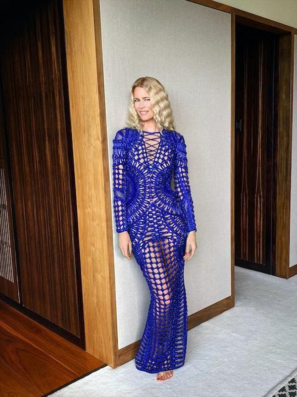 Claudia Schiffer Celebrates Her 50th Birthday In Balmain