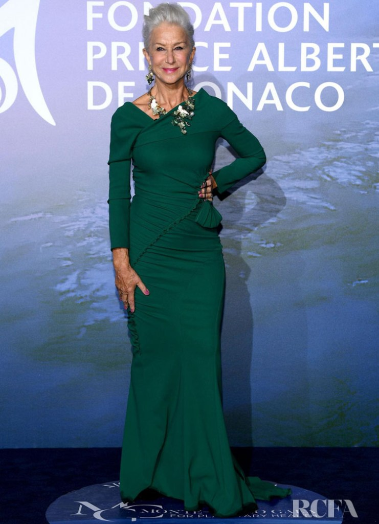 Helen Mirren Wore Dolce & Gabbana To The 2020 Monte-Carlo Gala for Planetary Health