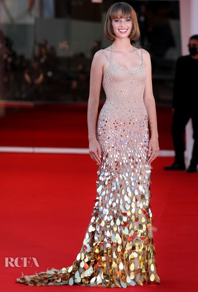 Maya Hawke in Atelier Versace - 'Mainstream' Venice Film Festival Premiere