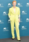 Tilda Swinton Wore Haider Ackermann For 'The Human Voice' Venice Film Festival Photocall