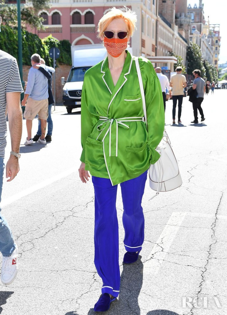 Tilda Swinton Wore Loewe Out In Venice