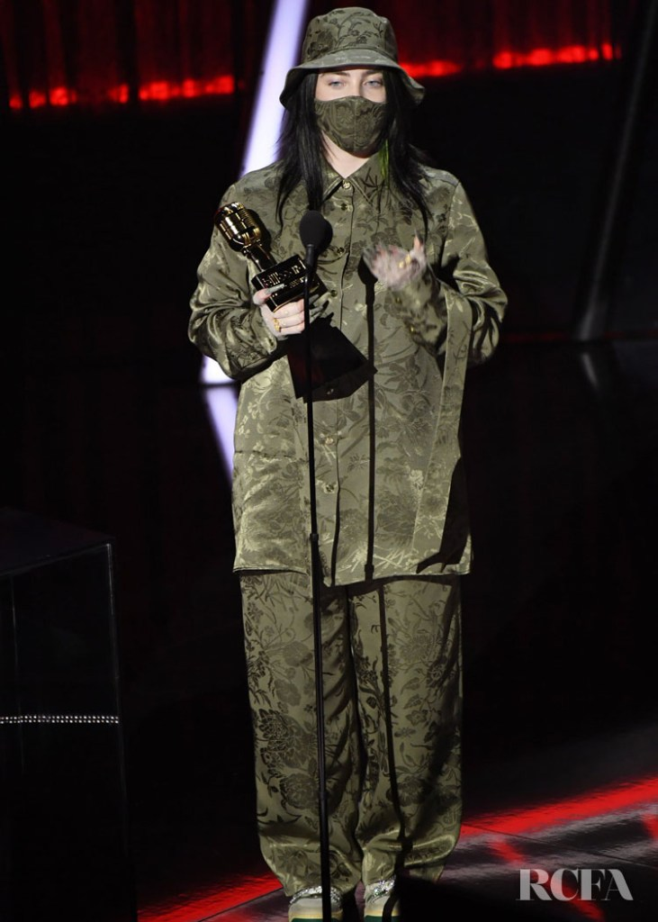 Billie Eilish Wore Gucci To The 2020 Billboard Music Awards