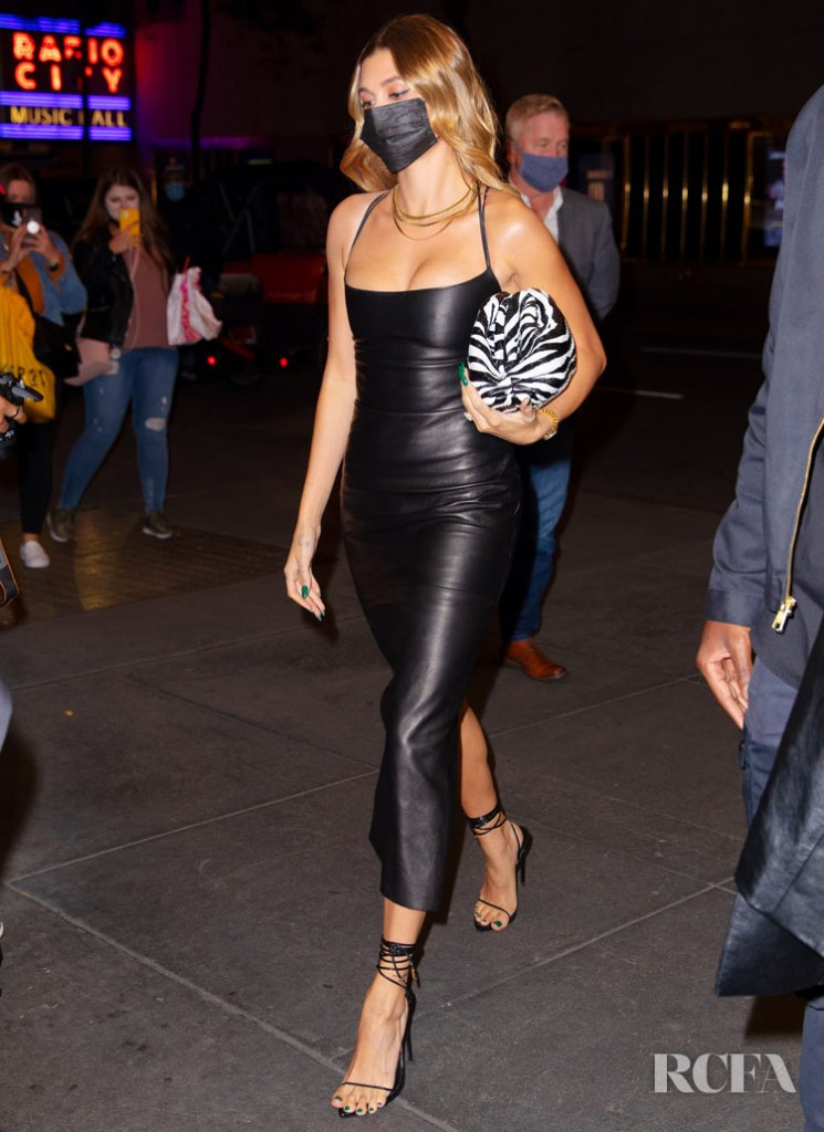 Hailey Bieber Wore Magda Butrym Out In New York City
