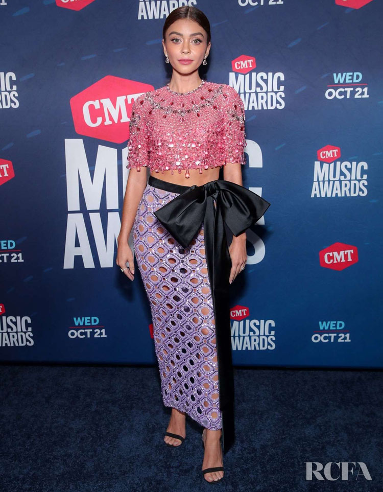 Sarah Hyland Wore Three Looks Co-Hosting The 2020 CMT Music Awards