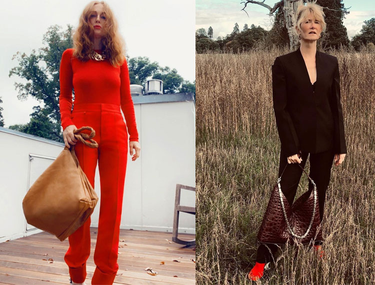 Julianne Moore and Laura Dern wear Matthew Williams Debut Givenchy Spring 2021 Collection