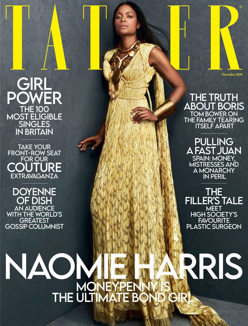 Naomie Harris For Tatler December 2020