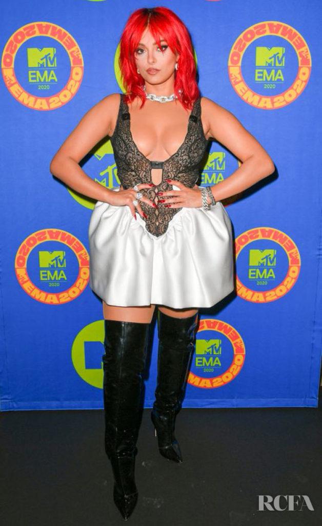 Bebe Rexha Wore Christopher Kane To The 2020 MTV EMAs
