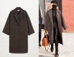 Diane Kruger's MANGO Oversize Wool Coat