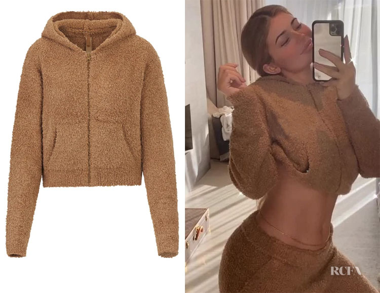 Kylie Jenner's SKIMS Cozy Knit Zip Up Hoodie