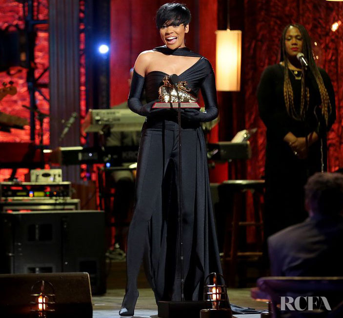 Monica Collects Her 'Lady of Soul' Award In Balenciaga