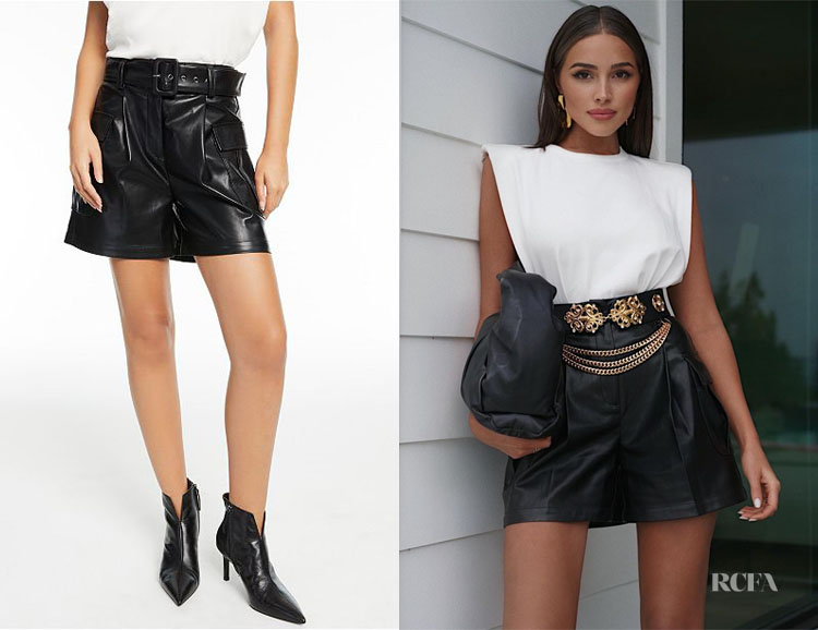 Olivia Culpo's CULPOS x INC Belted Faux-Leather Shorts
