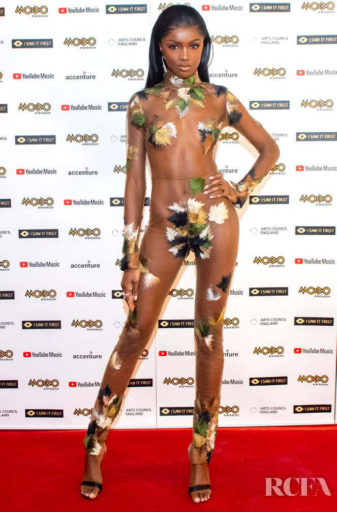 Leomie Anderson Wore Jean Paul Gaultier Haute Couture To The 2020 MOBO Awards