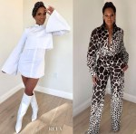 Regina King Promotes 'One Night In Miami' Wearing Aliétte & Salvatore Ferragamo