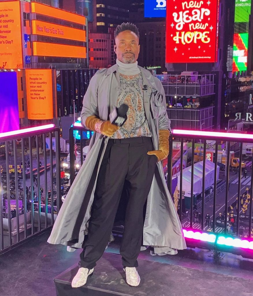 Billy Porter in Dior Men 2021 Dick Clark's New Year's Rockin' Eve Special