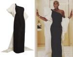 Cynthia Erivo's Carolina Herrera Bow-Detail One-Shoulder Column Gown