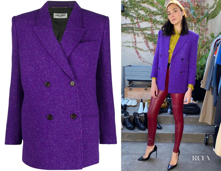 Gal Gadot's Saint Laurent Fitted Double Breast Blazer