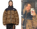 Hailey Bieber's Vetements Leopard Limited Edition Puffer Jacket