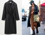 Irina Shayk's Mango Belt Leather-Effect Coat