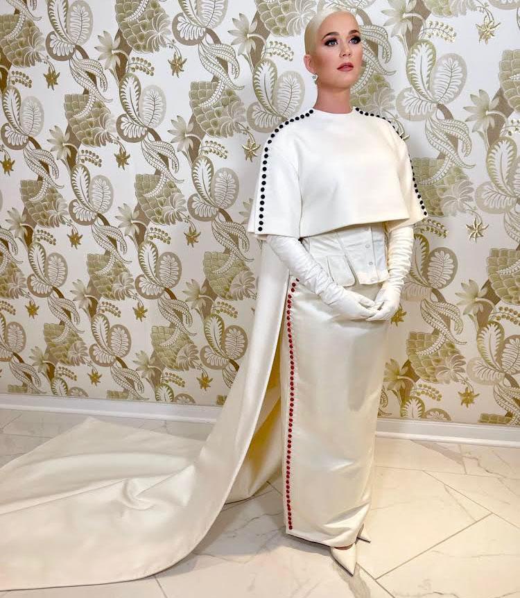 Katy Perry Wore Custom Thom Browne Performing At Joe Biden's Inauguration