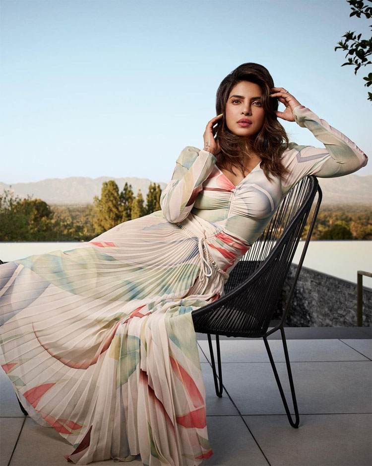 Priyanka Chopra Wore Etro Promoting 'The White Tiger'