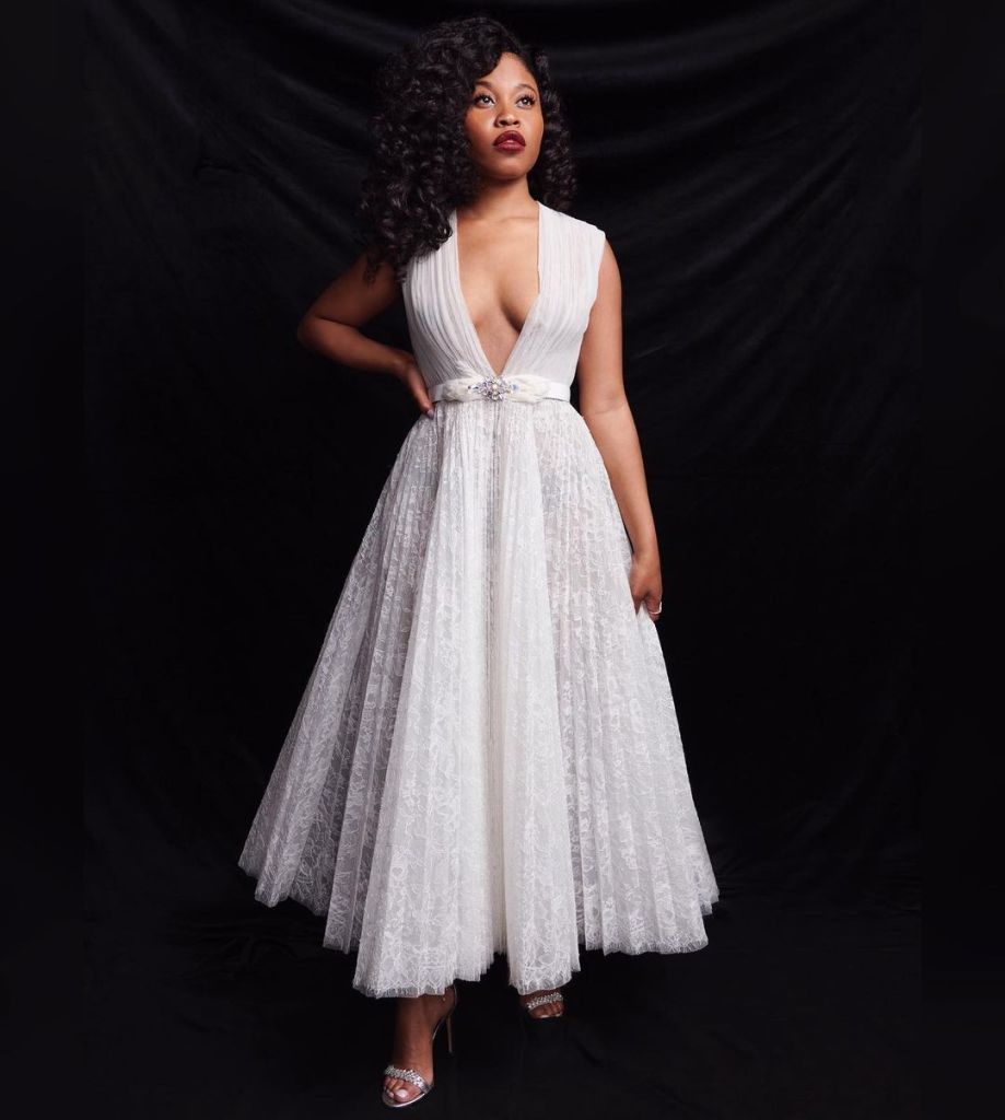 Dominique Fishback Wore Georges Hobeika Couture For The 'Judas and the Black Messiah' Sundance Film Festival Virtual Premiere