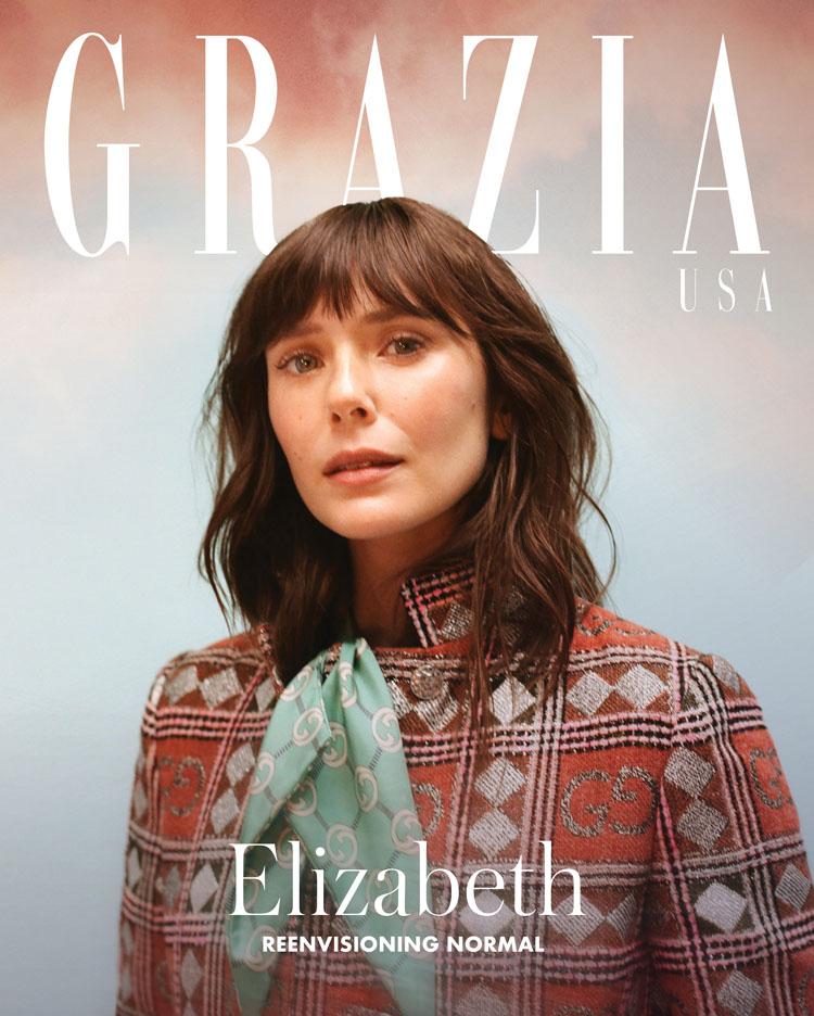 Elizabeth Olsen Graces The  Digital Cover For Grazia USA