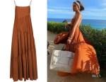 Olivia Culpo's Matteau Open Back Maxi Dress