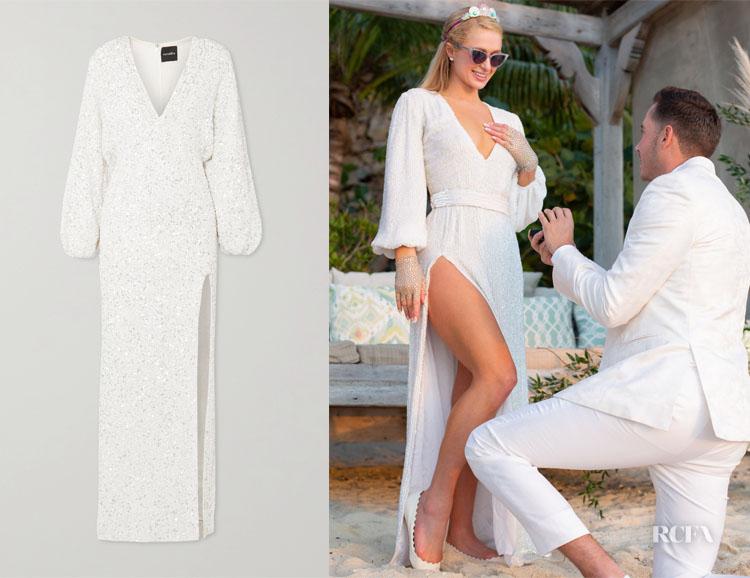 Paris Hilton's Retrofête Sequin Engagement Dress
