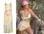 Rihanna's Dannijo Tie-Dye Silk Mini Slip Dress