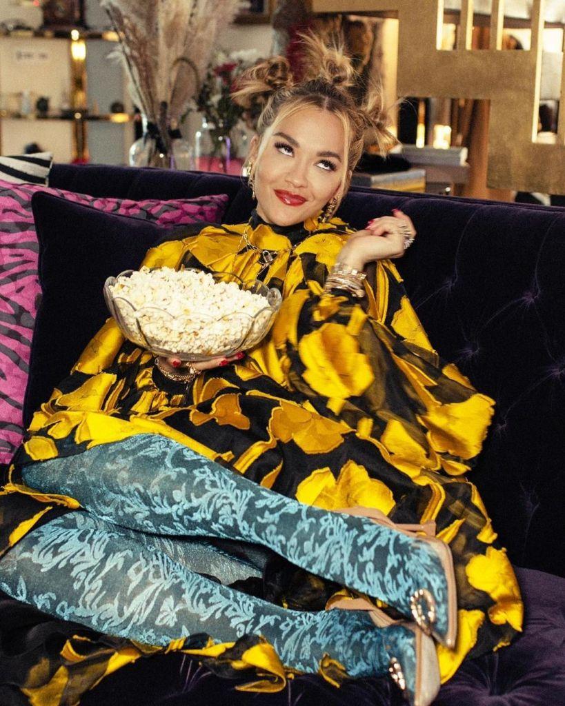 Rita Ora Wore Carolina Herrera For The 'Twist' At Home Premiere