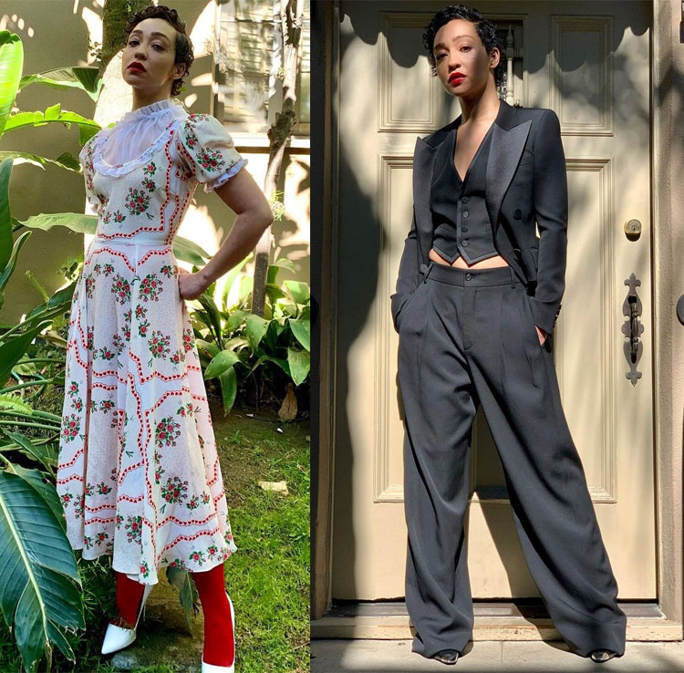 Ruth Negga Wore Rodarte & Saint Laurent Promoting 'Passing'