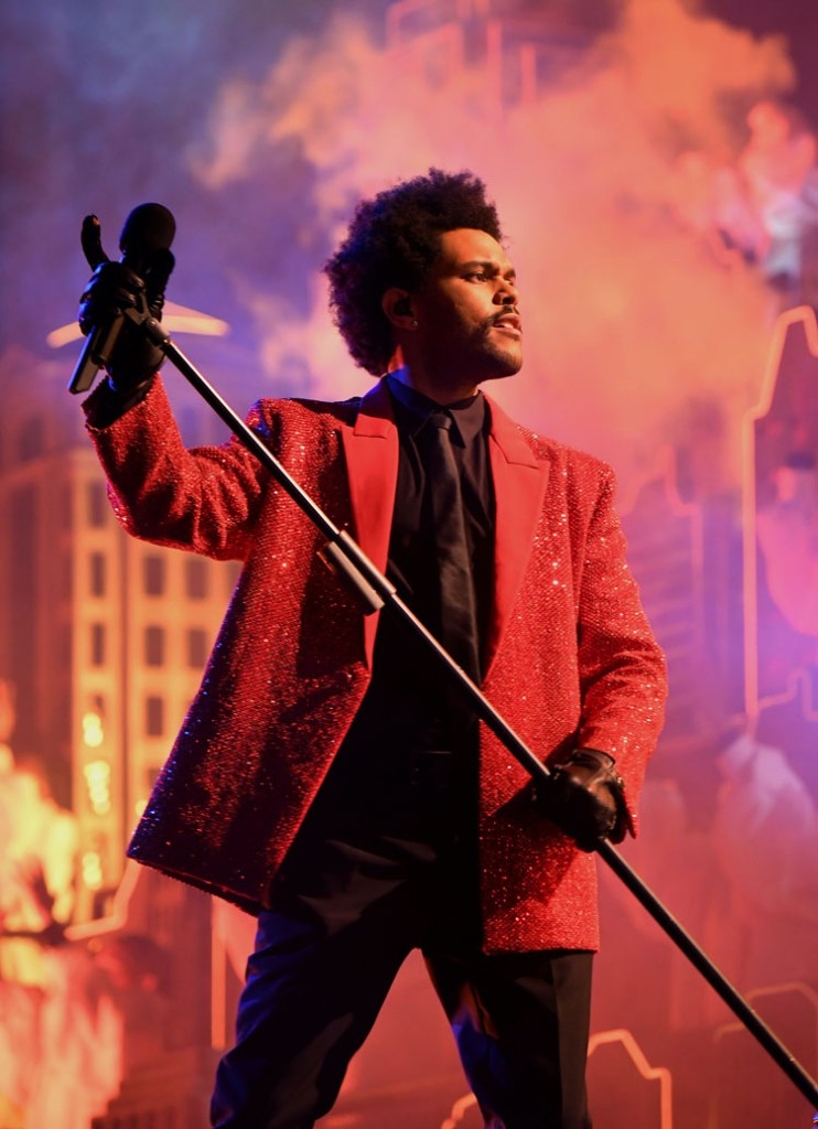 The Weeknd Wore Givenchy Performing At The Super Bowl LV Halftime Show