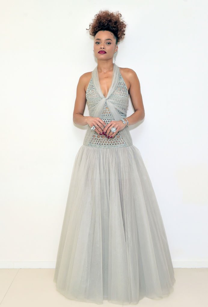 Andra Day Chanel Haute Couture 2021 Golden Globe Awards