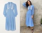 Ashley Madekwe's Alessandra Rich Polka Dot Dress