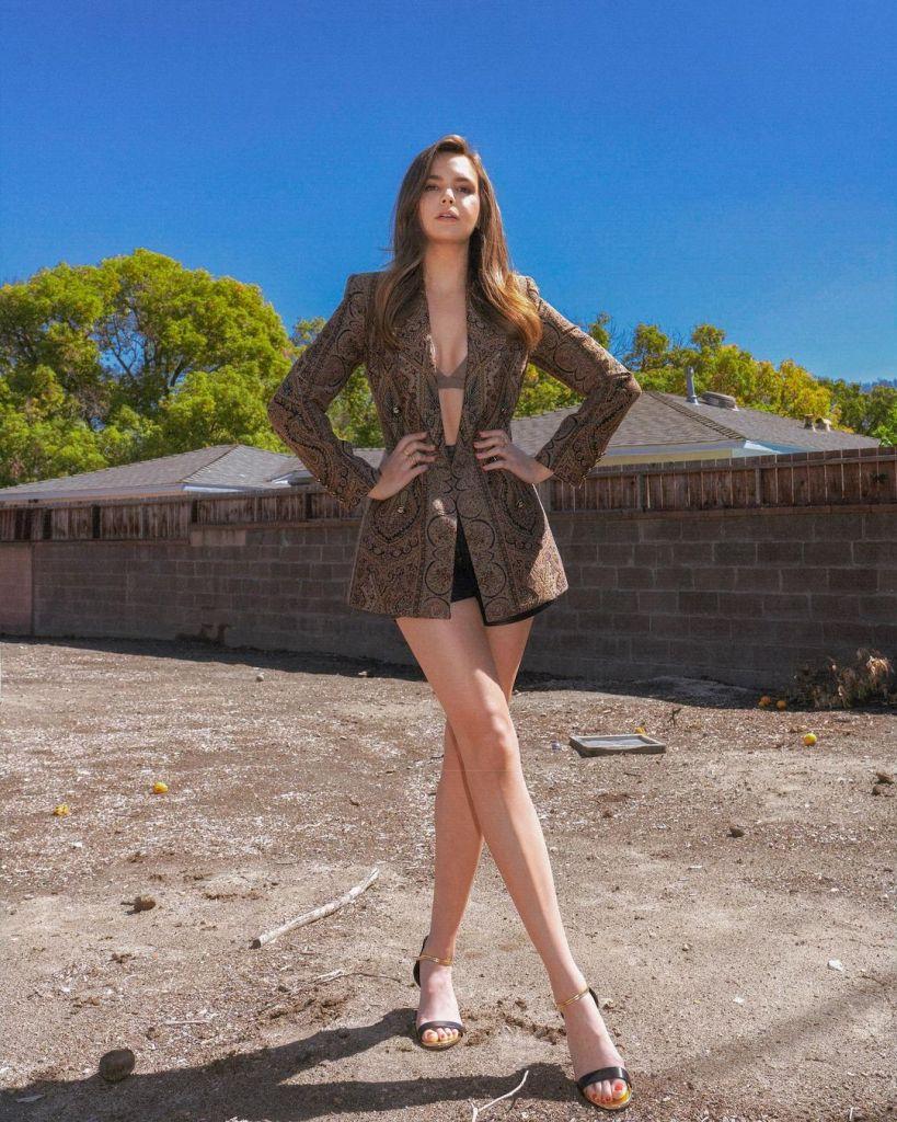Bailee Madison Promotes 'A Week Away' In Etro, Versace & Alberta Ferretti