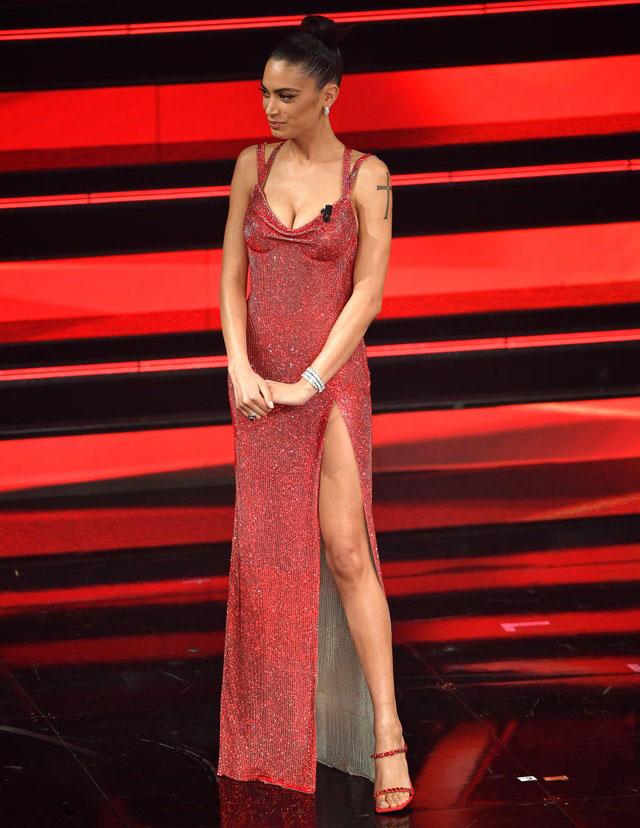 Elodie Wore Atelier Versace For Sanremo 2021
