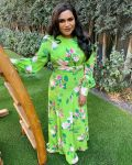 Mindy Kaling Wore Floral Andrew Gn For The 'Gram