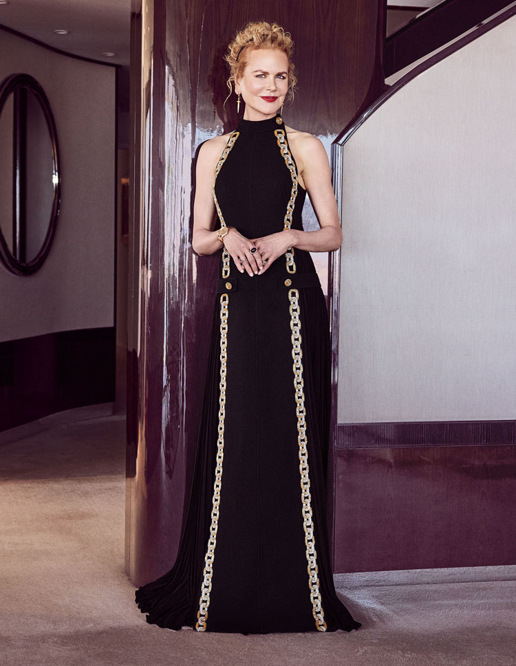 Nicole Kidman Wore Louis Vuitton For The 2021 Golden Globe Awards