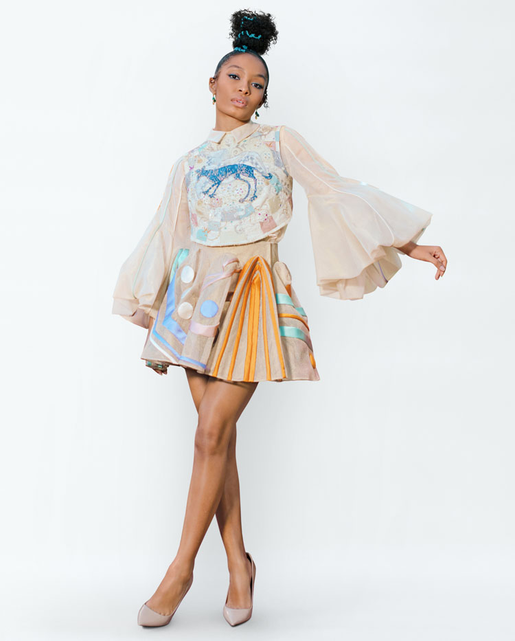Yara Shahidi Wore Christian Dior Haute Couture To The 2021 Critics' Choice Awards