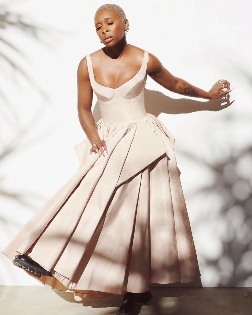 Cynthia Erivo Wore Alexander McQueen To The 2021 SAG Awards