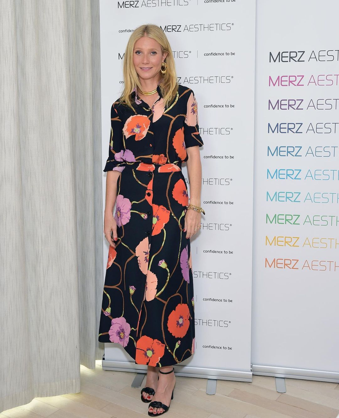 Gwyneth Paltrow Wore Gucci Promoting Merz Aesthetics