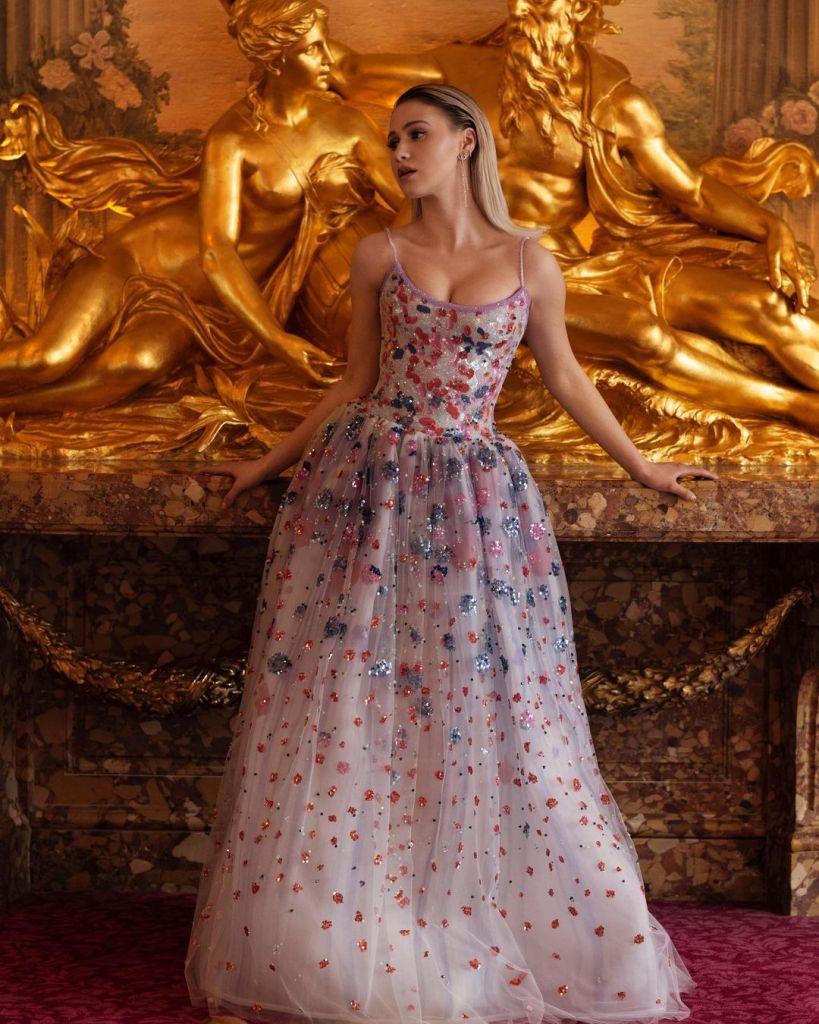 Maria Bakalova Wore Armani Prive To The 2021 BAFTAs