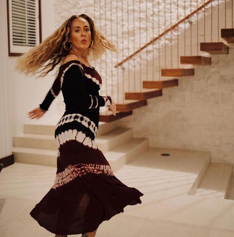 Adele Celebrates Her 33rd Birthday Wearing Altuzarra Tie Dye Dress