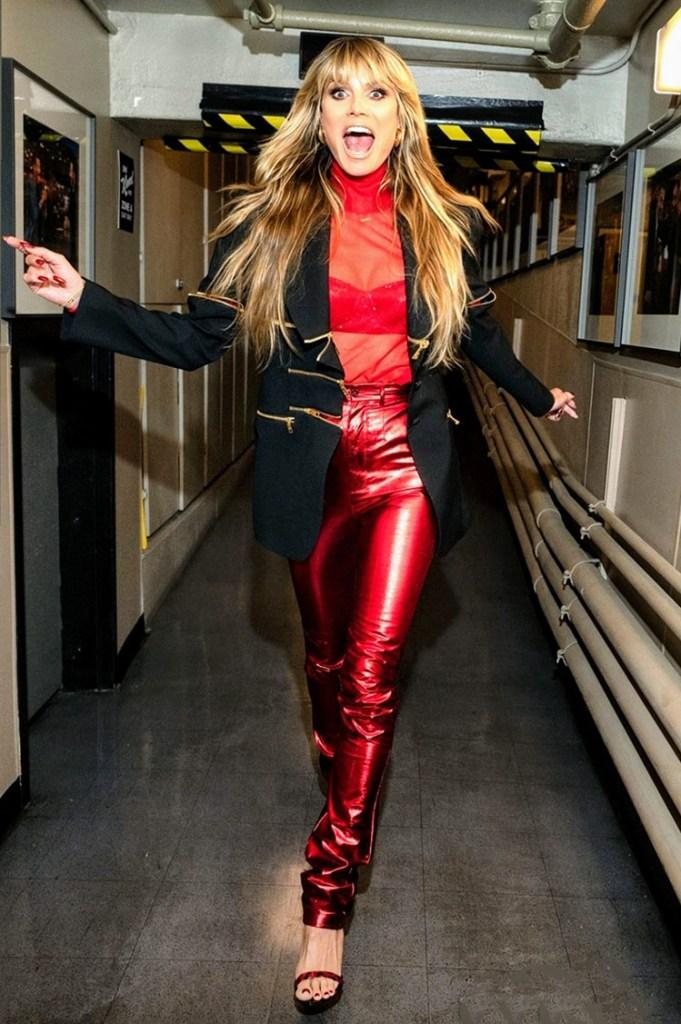 Heidi Klum Wore Dolce & Gabbana On Jimmy Kimmel Live!